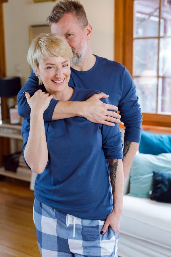 Ula Chińcz z mężem
