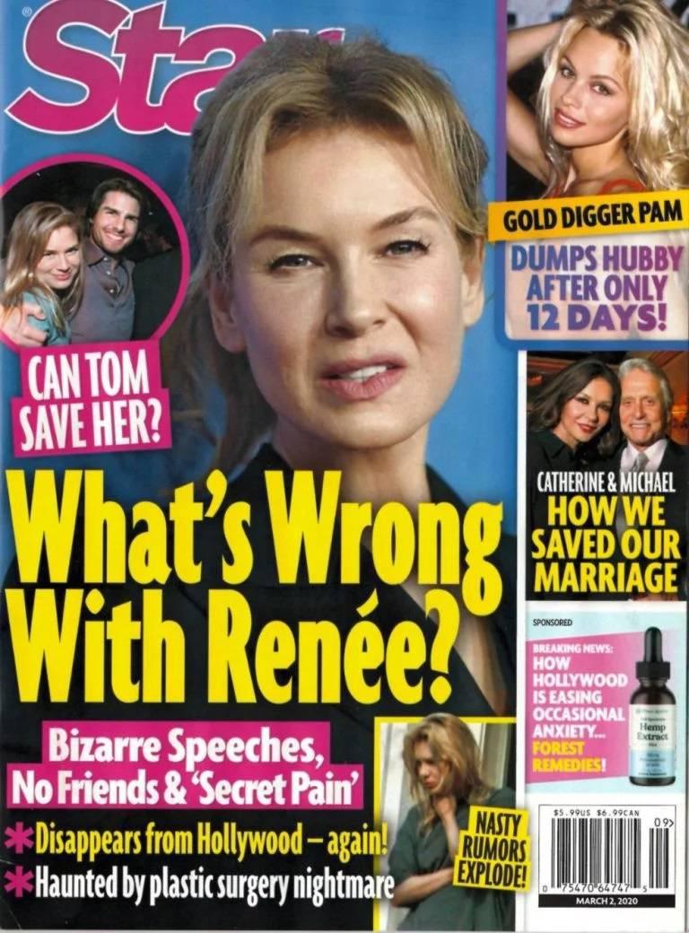 Renee Zellweger na okładce Star
