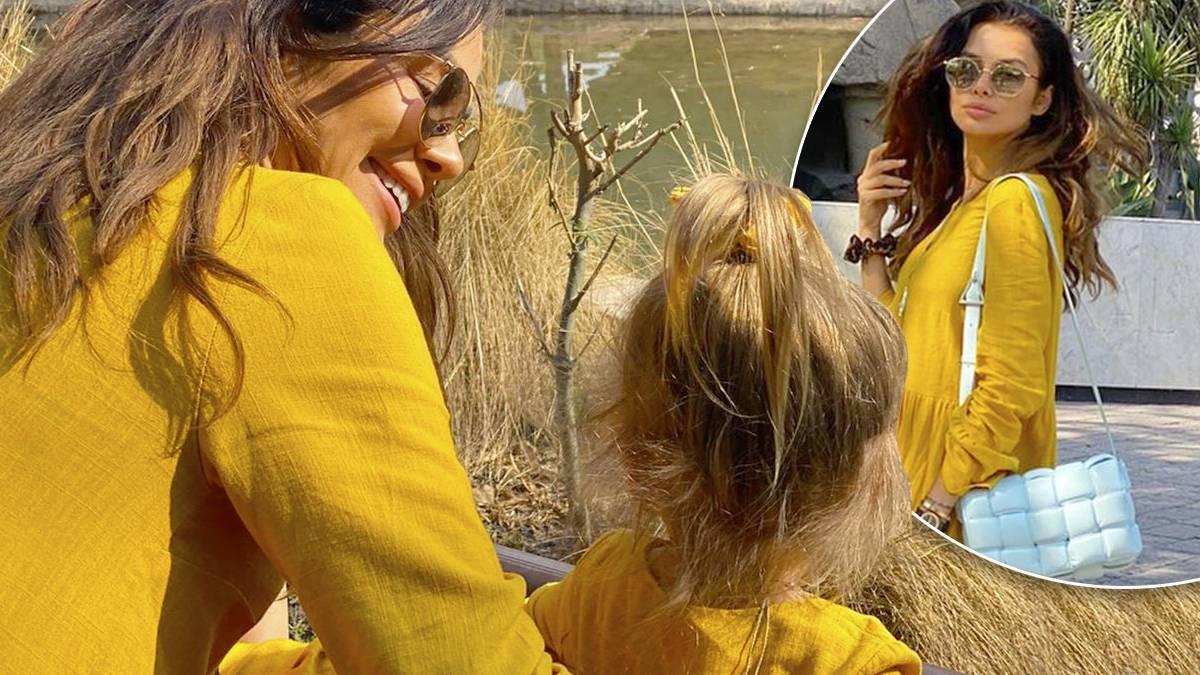 Natalia Siwiec w żółtej sukience