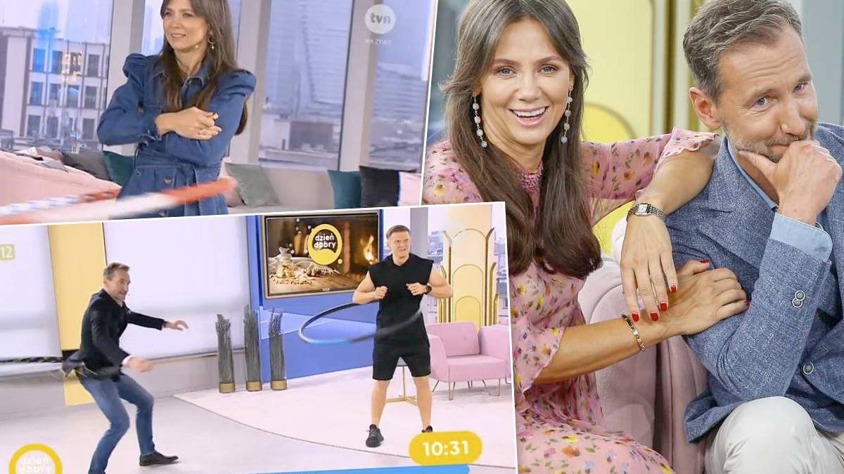 Kinga Rusin kręci hula hop w Dzień Dobry TVN