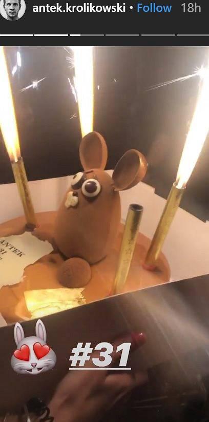 Antek Królikowski - tort urodzinowy