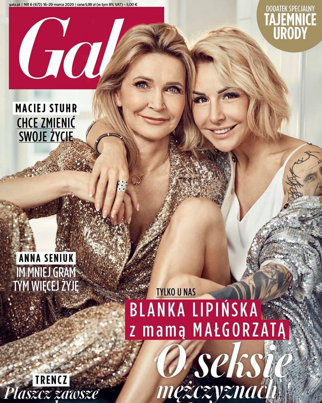 Blanka Lipińska i Małgorzata Lipińska w Gali