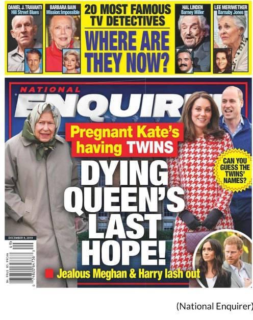 Księżna Kate w czwartej ciąży? National Enquirer
