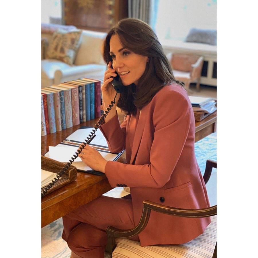 księżna Kate w swoim gabinecie w Pałacu Kensington