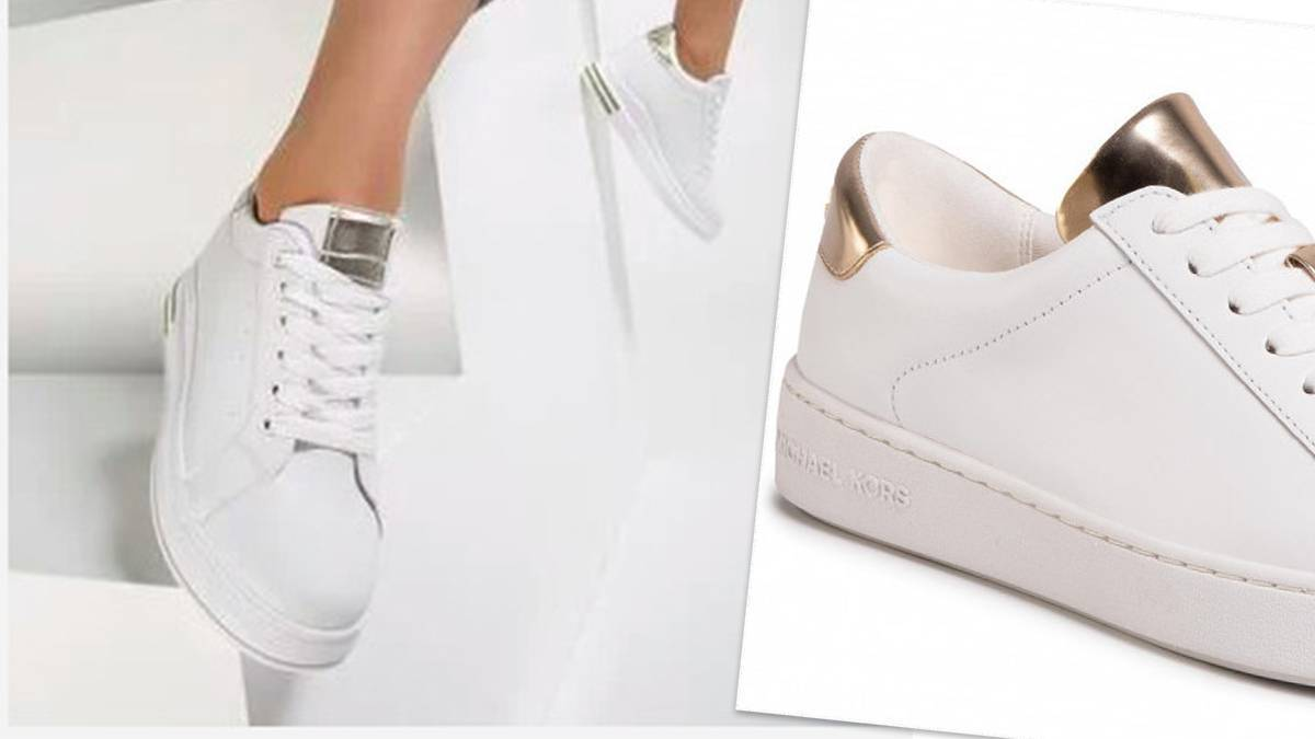 Białe Kwieciste Sneakersy Zarra
