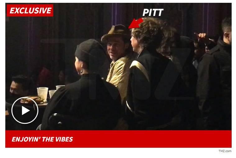 Brad Pitt na koncercie Thundercat