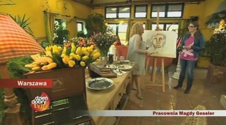 Magda Gessler pokazała swoje obrazy w DDTVN
