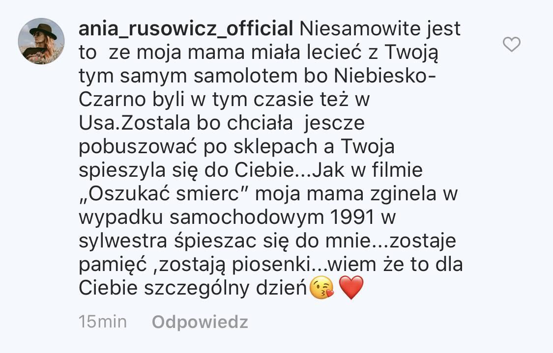 Natalia Kukulska - komentarz Ani Rusowicz