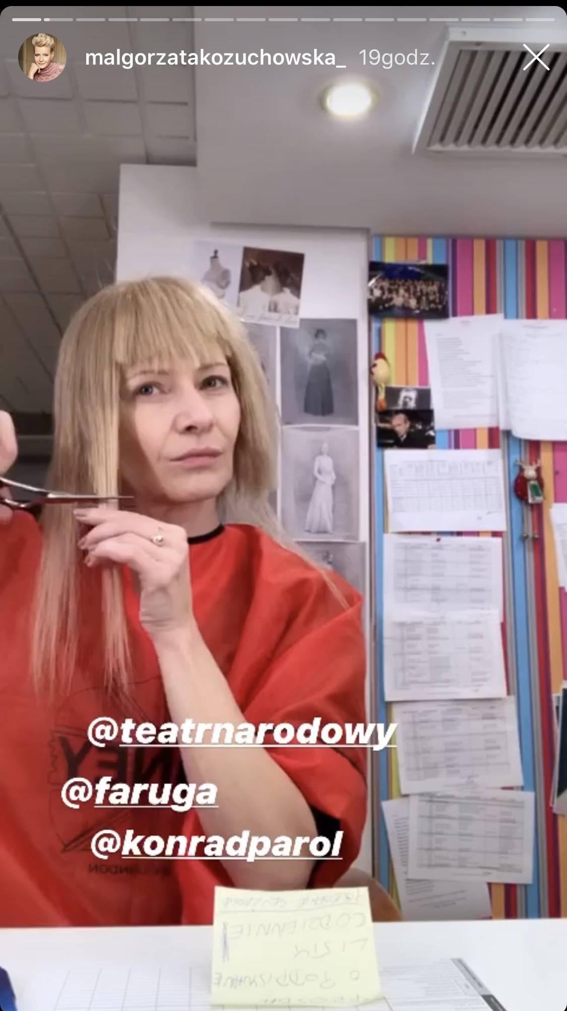 Małgorzata Kożuchowska sama ścina sobie włosy