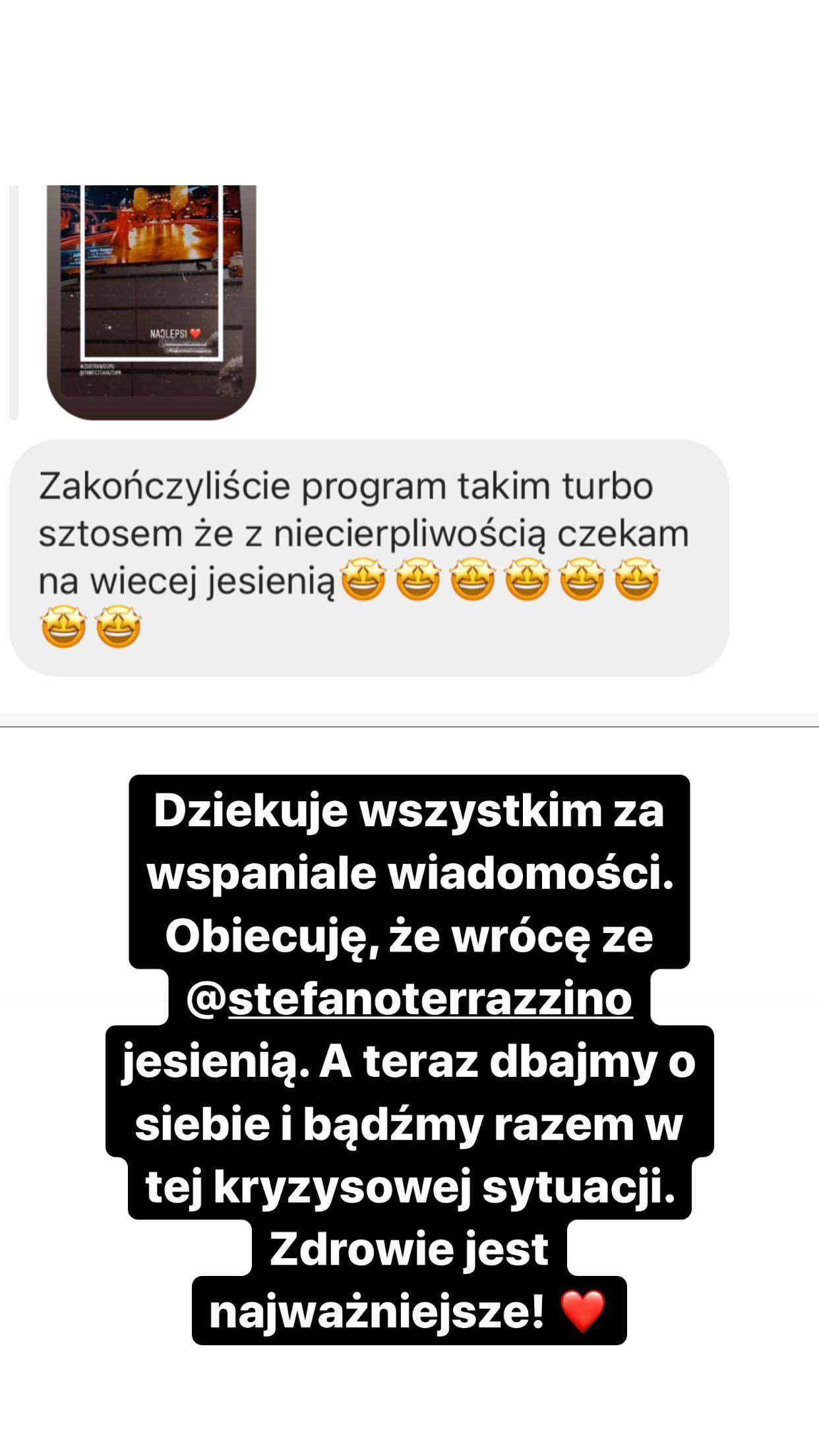 Julia Wieniawa komentuje przerwanie programu Taniec z gwiazdami 11