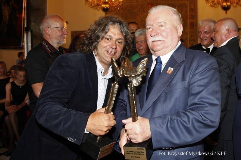 Maciej Kosycarz i Lech Wałęsa. Fot. Facebook