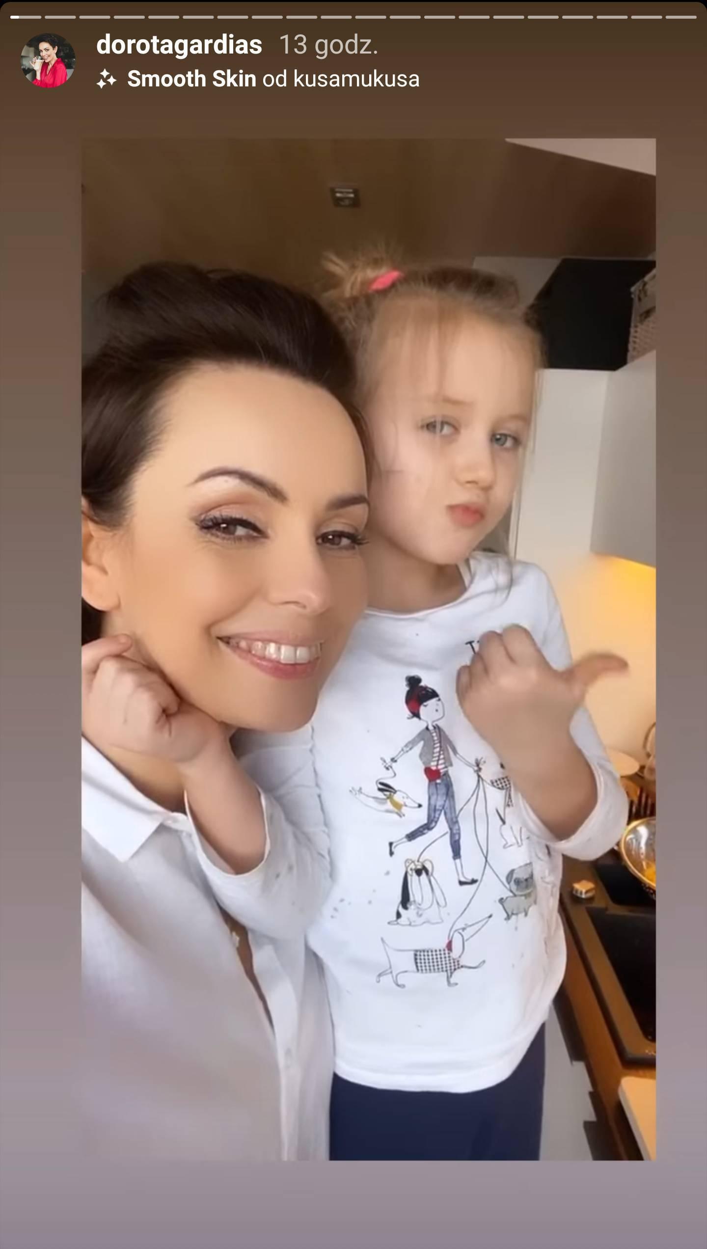 Dorota Gardias z córką w kuchni