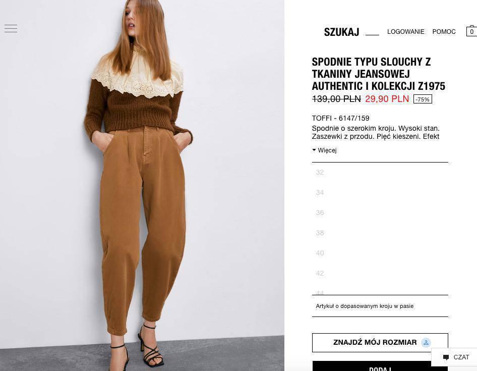 Spodnie z Zary za 29 złotych
