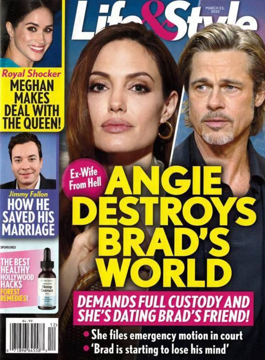 Angelina Jolie i Brad Pitt – Life&Style, marzec 2020