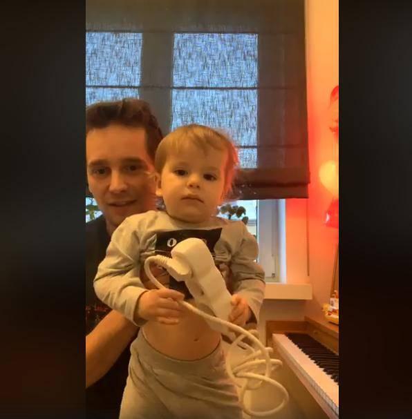 Krzysztof Zalewski z synem