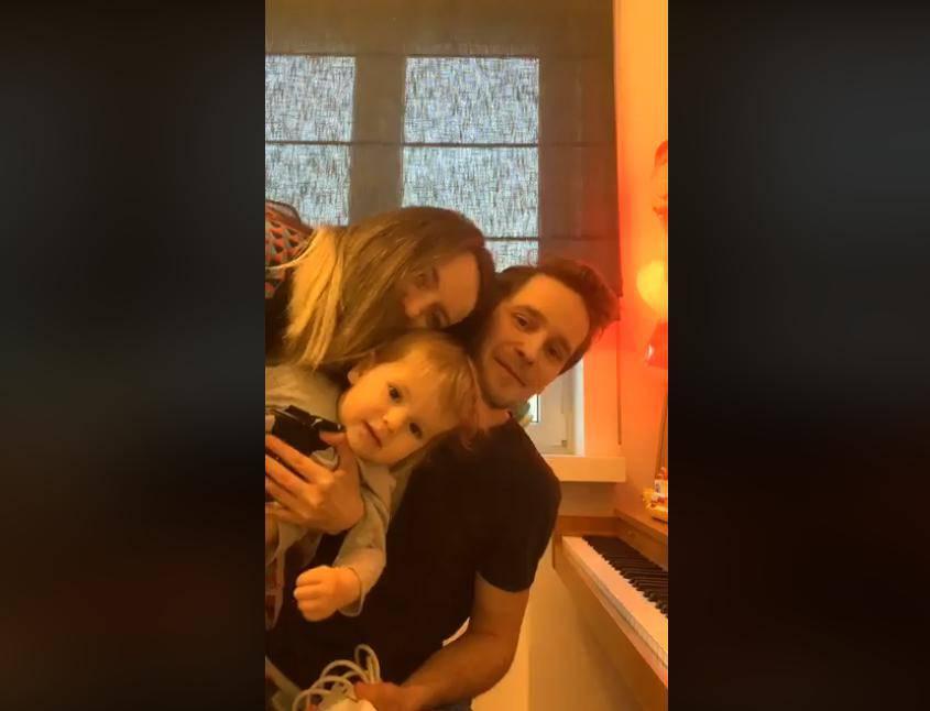 Krzysztof Zalewski z żoną i synem