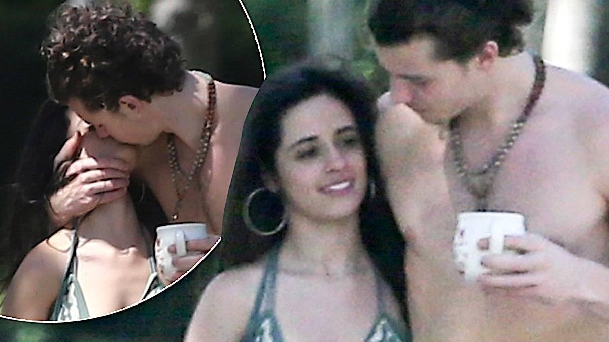 Camila Cabello i Shawn Mendes całują się na spacerze