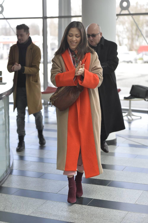 Natalia Kukulska w drodze do studia Pytania na śniadanie