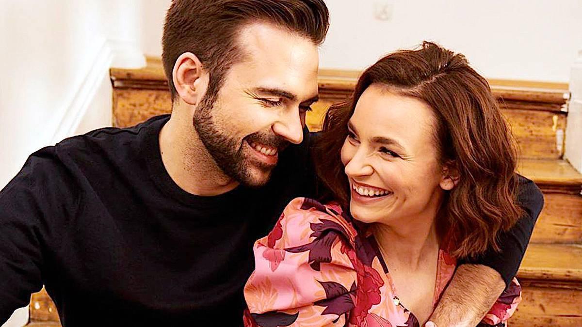 Ania Starmach z mężem