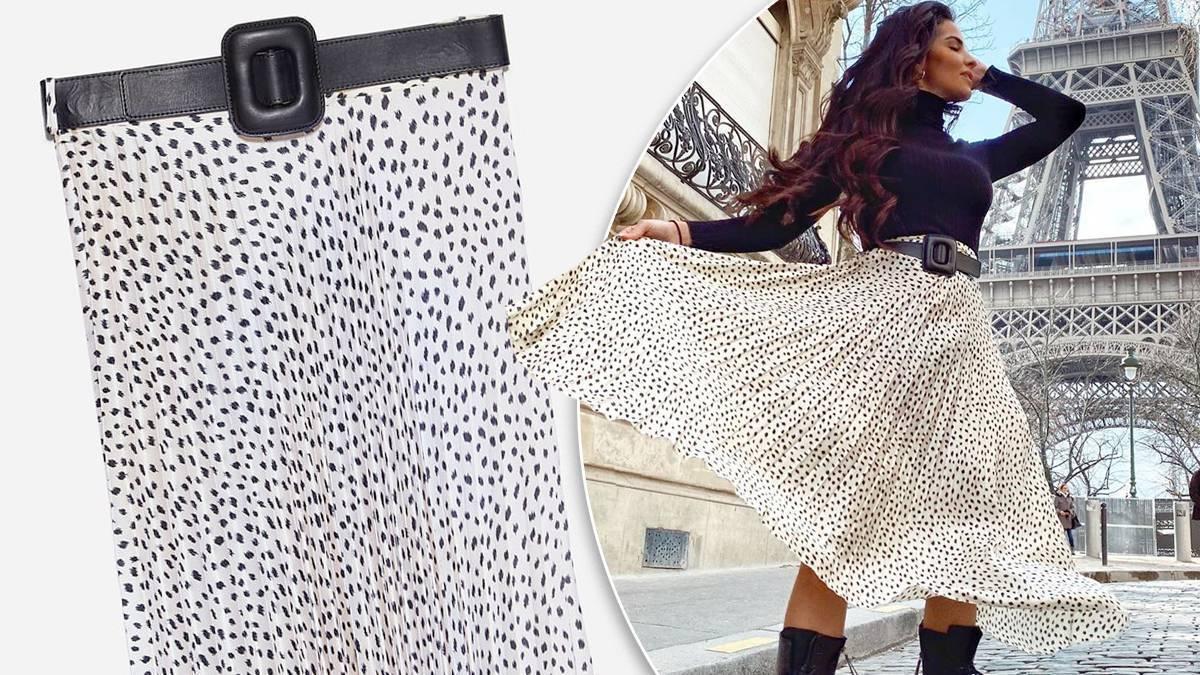 Zara – spódnica w kropki