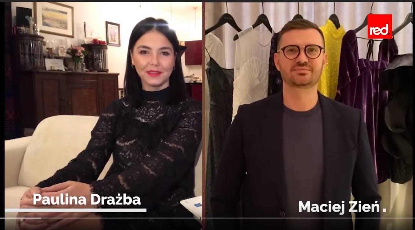 Paulina Drażba i Maciej Zień - kadr z programu Kryzysowy Czerwony Dywan