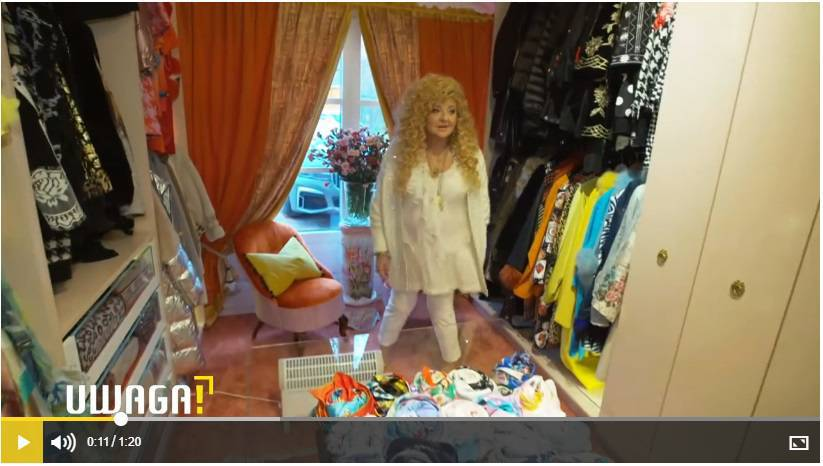 Garderoba Magdy Gessler - kadr z programu Uwaga
