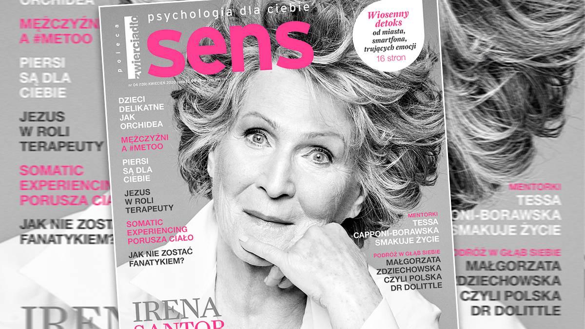 Irena Santor – okładka magazynu Sens