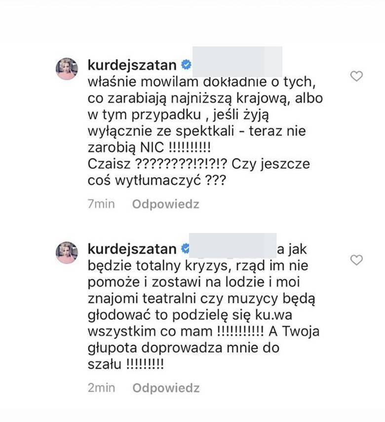 Barbara Kurdej-Szatan planuje pomóc artystom