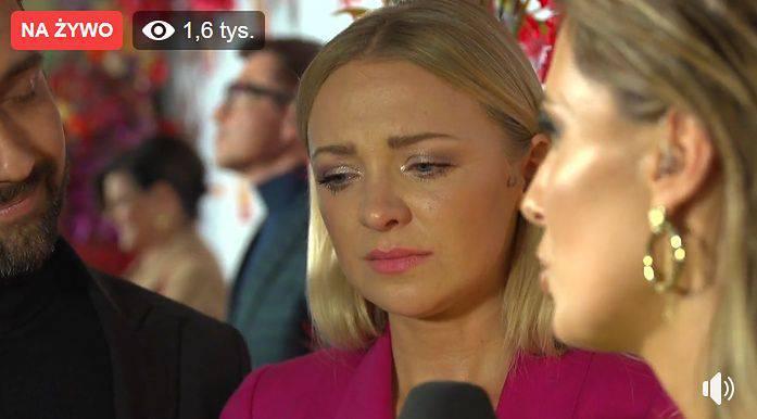 Barbara Kurdej-Szatan we łzach