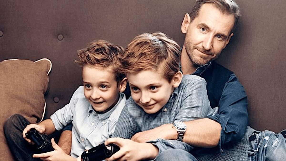 Piotr Kraśko z synami
