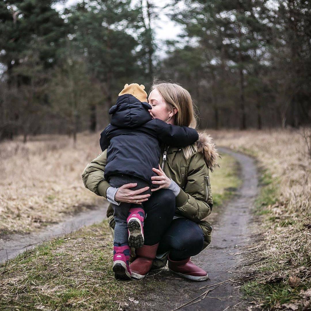 Urszula Hołownia z córką Marysią