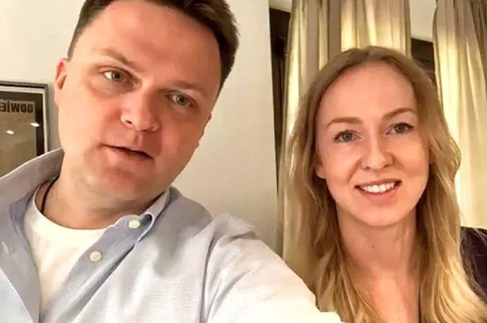 Szymon Hołownia z żoną