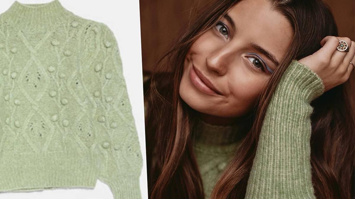 Julia Wieniawa w sweterku z Zary