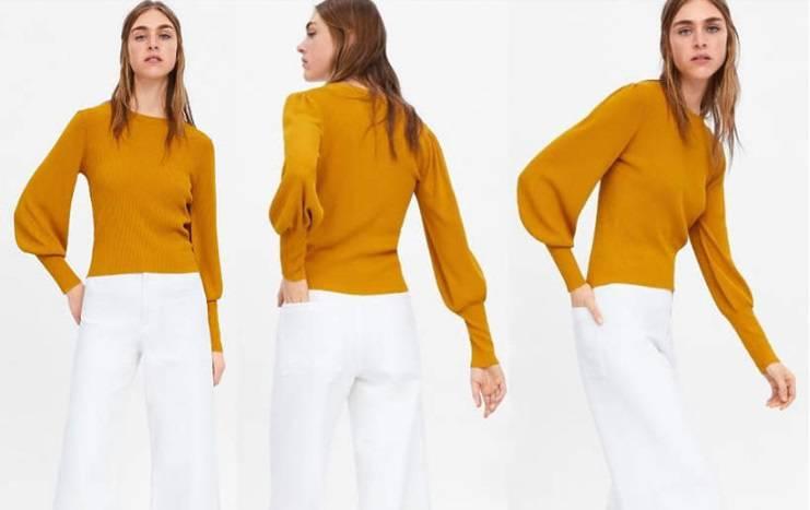 Musztardowy sweter Zara