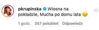 Paulina Krupińska o zdjęciu Wojewódzkiego i Muchy