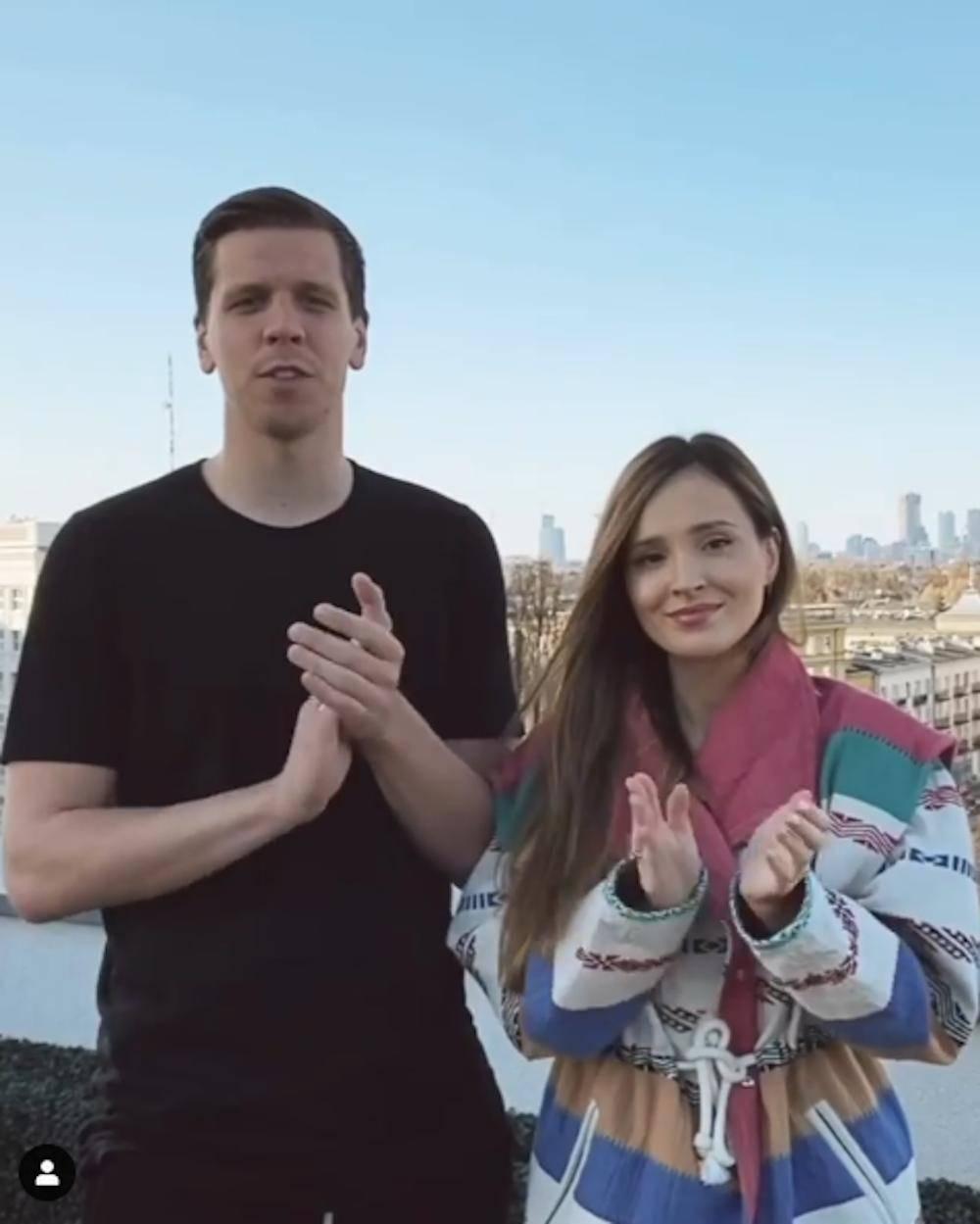 Marina Łuczneko i Wojciech Szczęsny