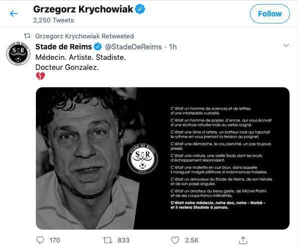 Grzegorz Krychowiak pożegnał Bernarda Gonzaleza
