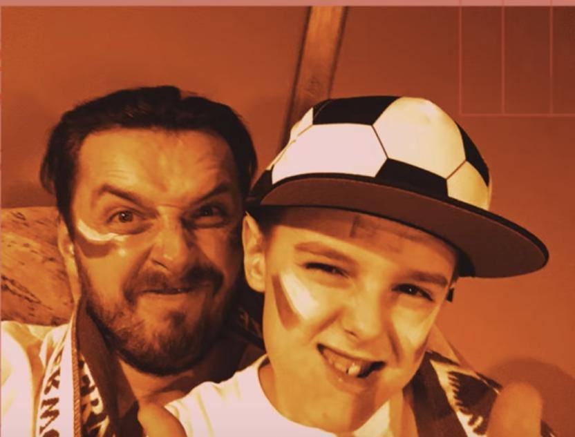 Piotr Cugowski z synem
