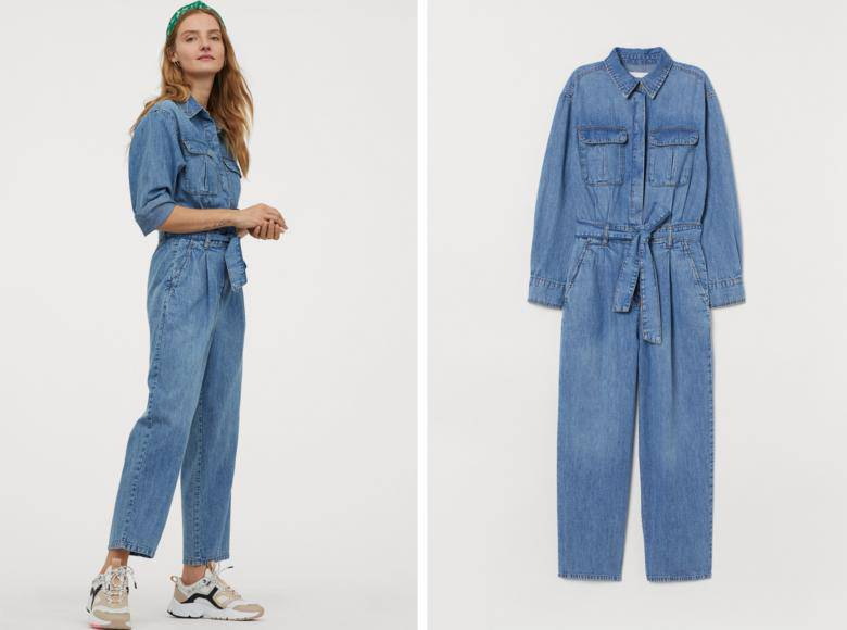 jeansowy kombinezon z H&M