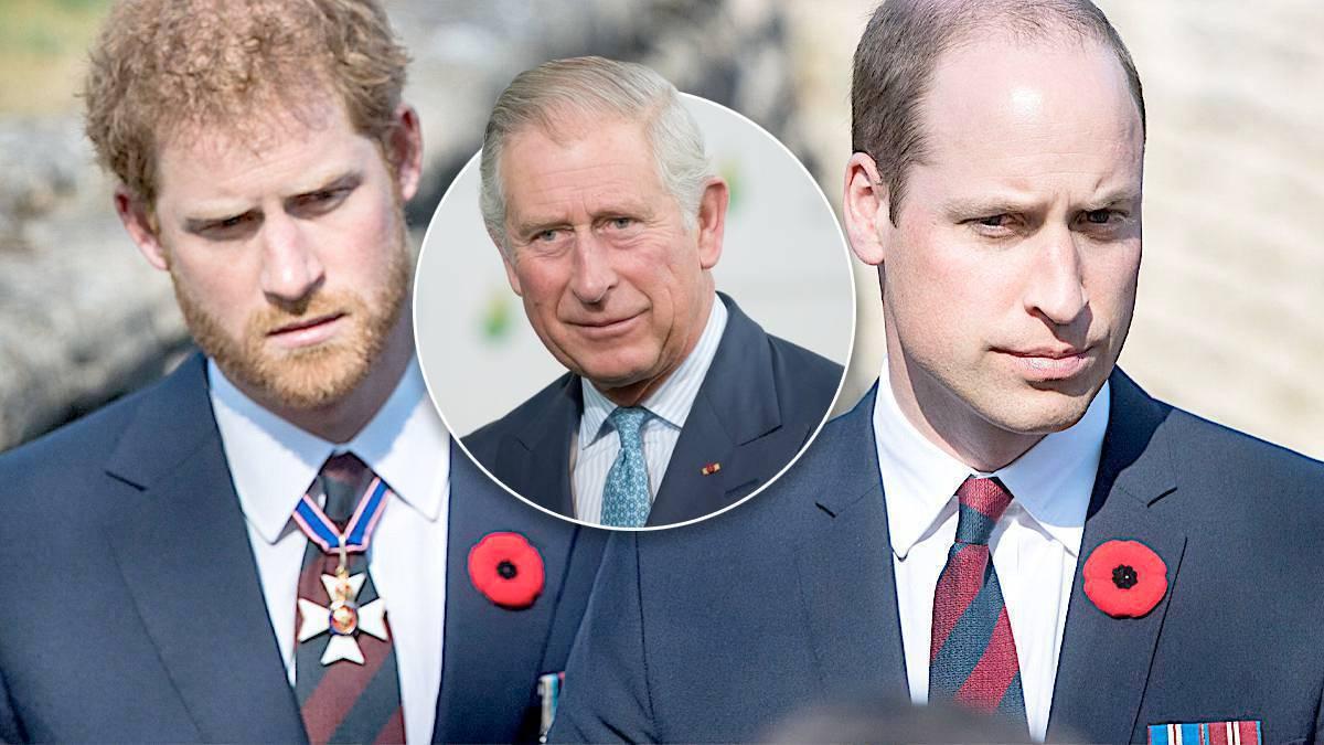 Książę Harry, książę William i książę Karol