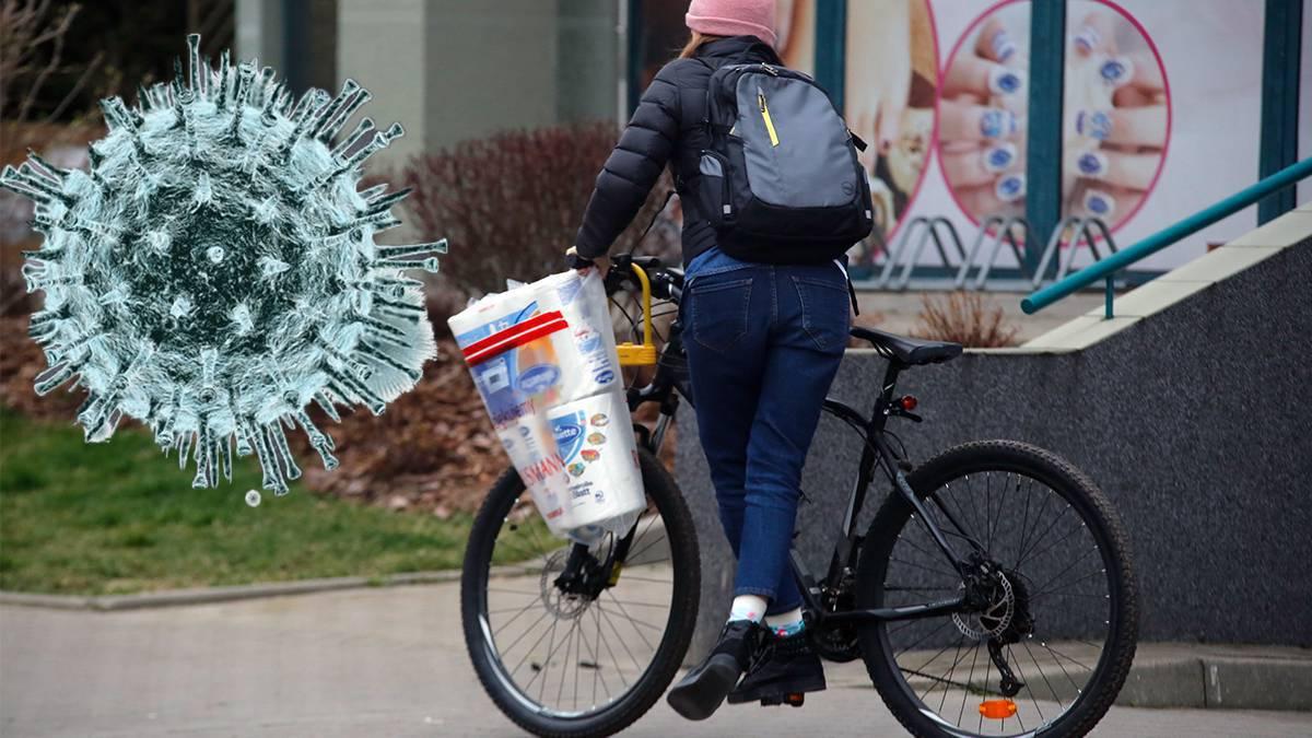 Koronawirus - mandaty za jazdę na rowerze