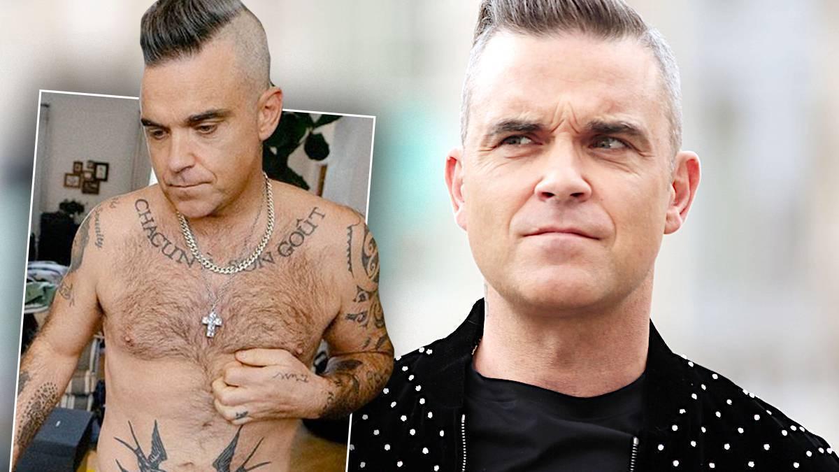 Robbie Williams nago w domu