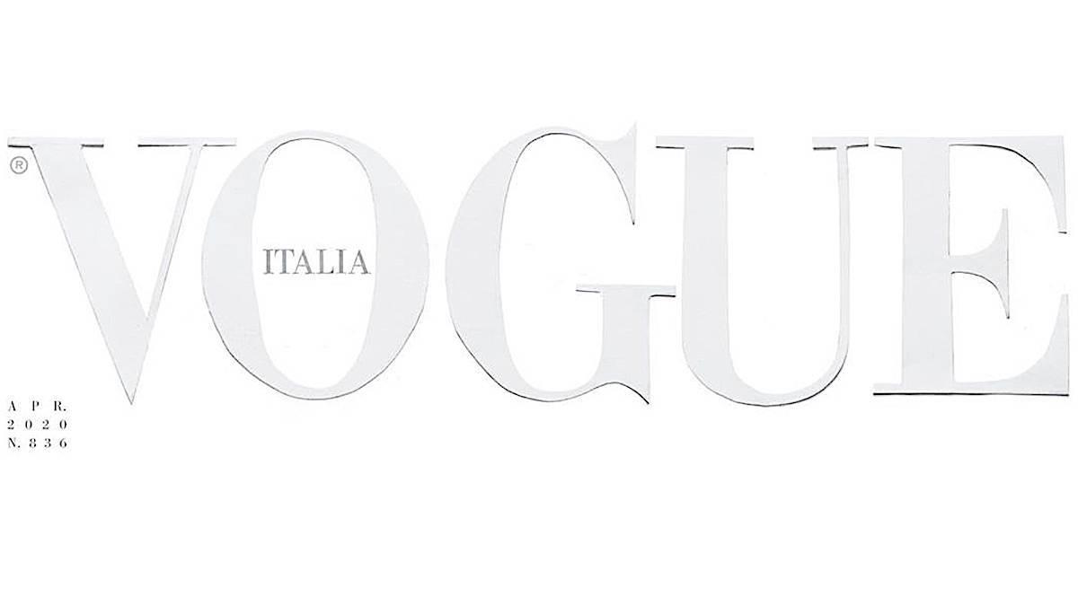 Vogue Italia – okładka na kwiecień 2020