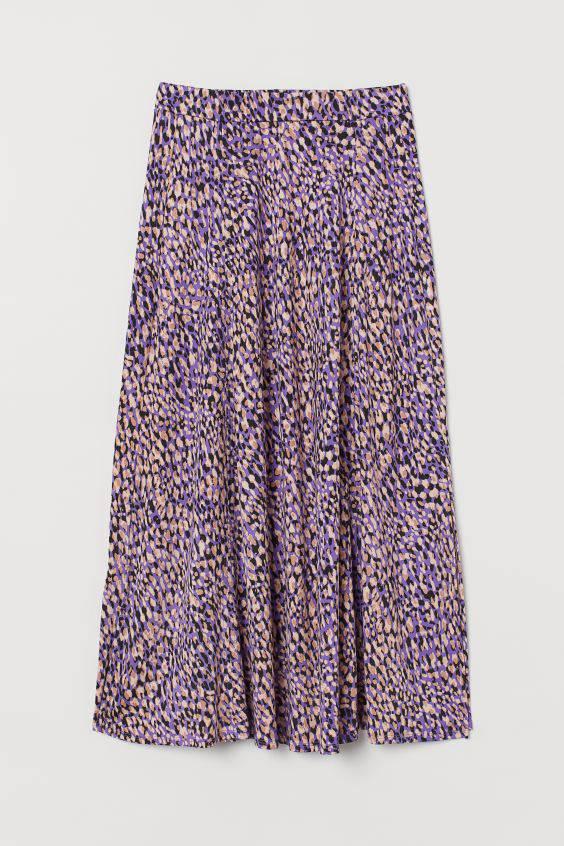 Wzorzysta spódnica z dżerseju z H&M