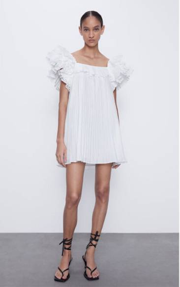 Biała sukienka z Zary