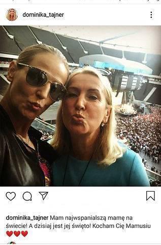Dominika Tajner z mamą