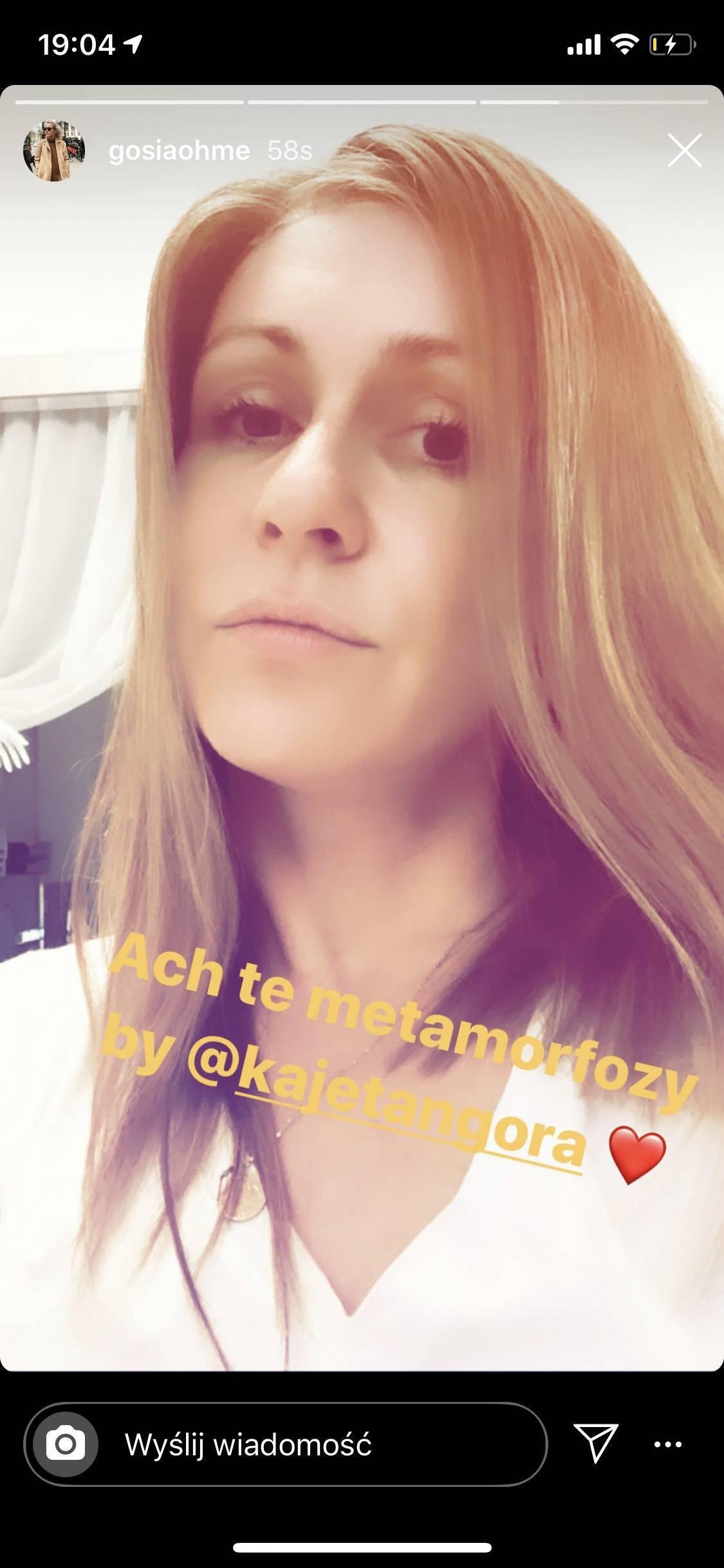 Małgorzata Ohme - nowa fryzura