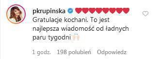 Zdjęcie (6) Anna Lewandowska urodziła. Gwiazdy gratulują. Słowa Magdy Mołek rozczulają najbardziej