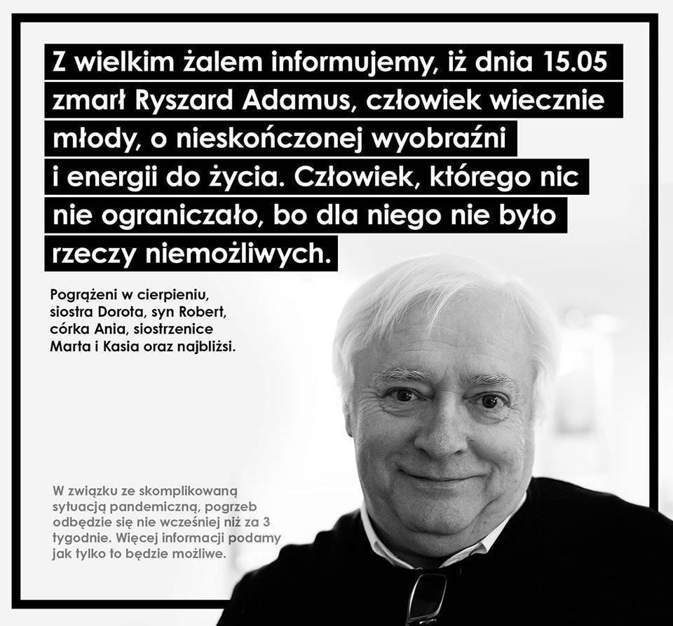 Ryszard Adamus nie żyje