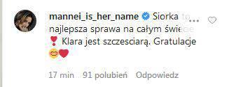 Zdjęcie (2) Anna Lewandowska urodziła. Gwiazdy gratulują. Słowa Magdy Mołek rozczulają najbardziej